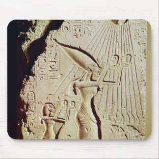 Depicting Amenophis IV, Nefertiti and Daughter Mouse Pad