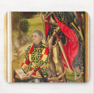 Depicting donor of altarpiece Michel de Mouse Pad
