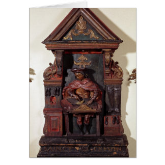 Depicting St. Crispin at his Workbench Greeting Card