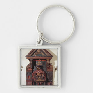 Depicting St. Crispin at his Workbench Keychain
