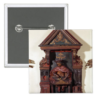 Depicting St. Crispin at his Workbench Pinback Button