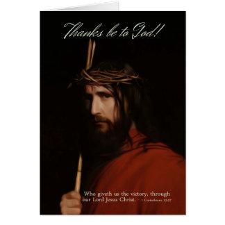 Depiction In Oil Of Jesus Christ - Easter Celebrat Greeting Card
