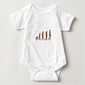 Depiction of the Evolution of Man Baby Bodysuit