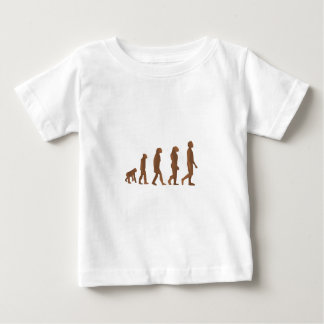 Depiction of the Evolution of Man Baby T-Shirt