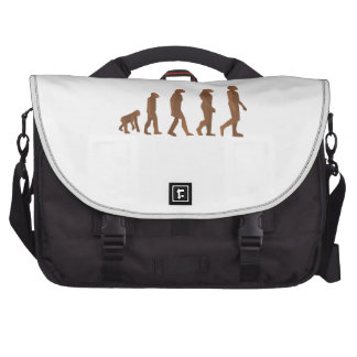 Depiction of the Evolution of Man Laptop Bags