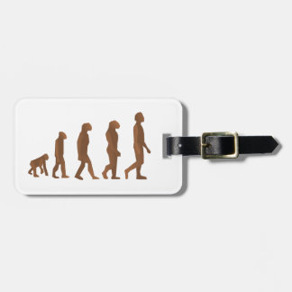 Depiction of the Evolution of Man Tags For Bags