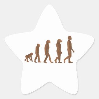 Depiction of the Evolution of Man Star Sticker