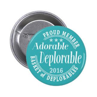 Deplorable adorable para el miembro orgulloso de pin redondo de 2 pulgadas