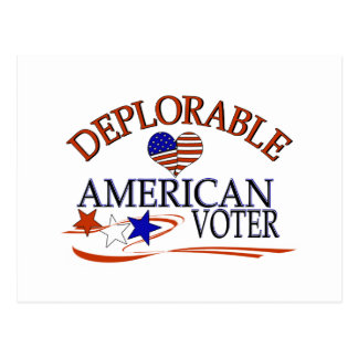DEPLORABLE AMERICAN VOTER POSTCARD