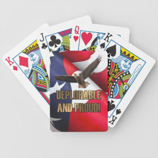 DEPLORABLE AND PROUD BICYCLE PLAYING CARDS