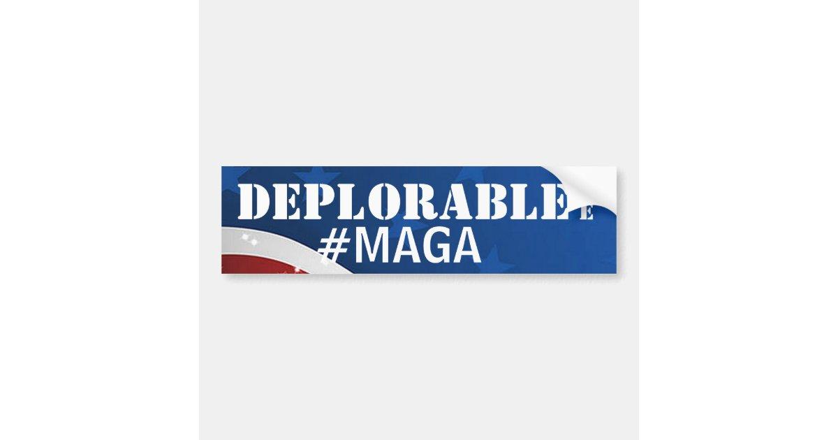 Deplorable me maga make america great again bumper sticker zazzle com