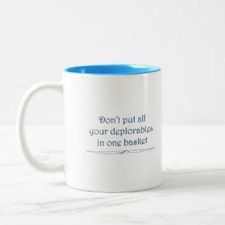 Deplorables basket mug in blue