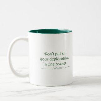 Deplorables basket mug in green