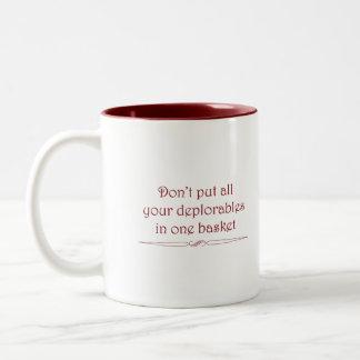 Deplorables basket mug in red