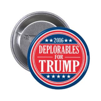 Deplorables para Donald Trump y los peniques de Pin Redondo De 2 Pulgadas