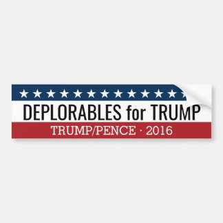 Deplorables para los peniques de Donald Trump Mike Pegatina Para Auto