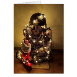 Deployed Soldier's Christmas Tree Card