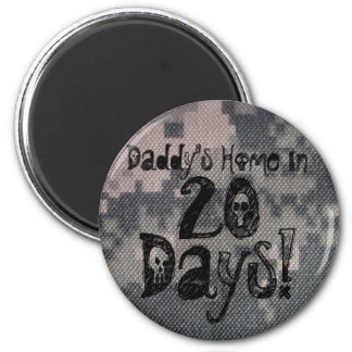 Deployment Count Down 20 2 Inch Round Magnet