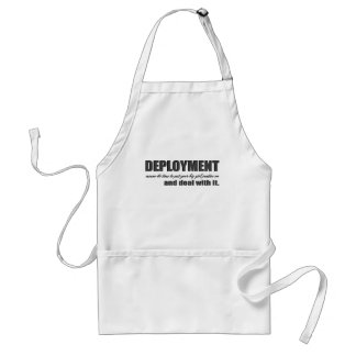 deployment- deal with it adult apron