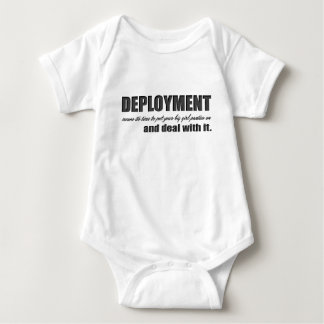 deployment- deal with it baby bodysuit