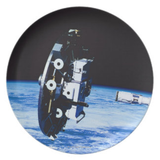 Deployment of a Satellite Plate