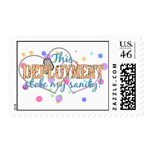 Deployment Stole My Sanity Postage Stamps