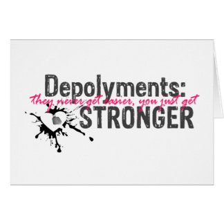 Deployments you get STROnGER card