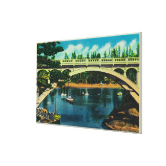 Depoe Bay and Bridge, OregonDepoe Bay, OR Gallery Wrap Canvas