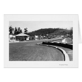 Depoe Bay, Oregon Town View Along Seawall Card