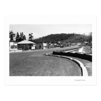 Depoe Bay, Oregon Town View Along Seawall Postcard