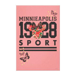 Deporte 1928 de Minnie Mouse Minnieapolis Lona Envuelta Para Galerias