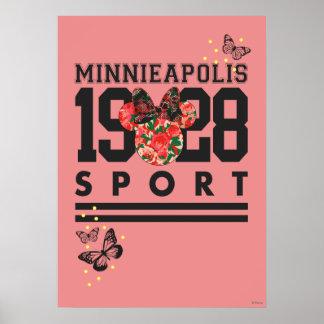 Deporte 1928 de Minnie Mouse Minnieapolis Póster