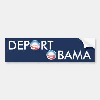 Deporte a Obama Etiqueta De Parachoque