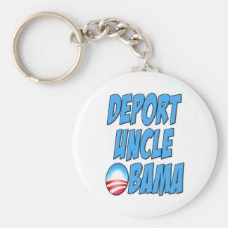 Deporte a tío Obama Llavero Redondo Tipo Pin