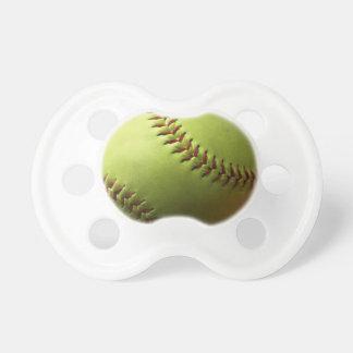 Deporte amarillo del softball chupetes para bebés