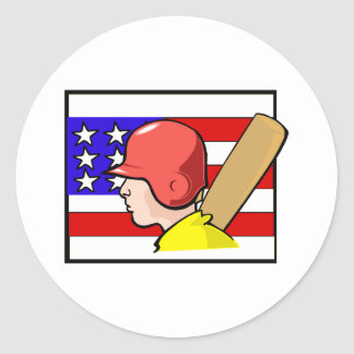 Deporte americano pegatina redonda