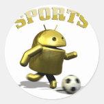 deporte androide etiquetas redondas