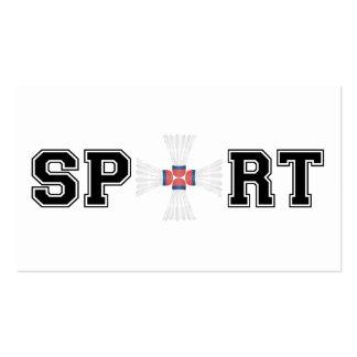 Deporte (bádminton) tarjetas de visita