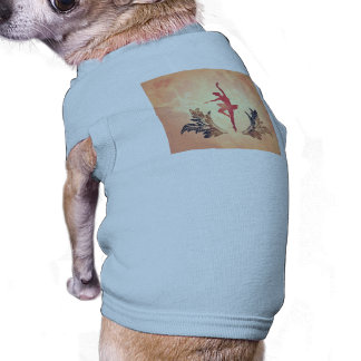 Deporte, bailarín de ballet de la silueta camisetas mascota