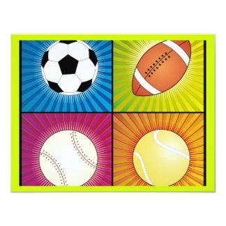 deporte-bolas invitaciones personalizada