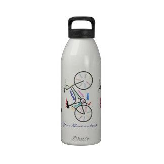 Deporte conocido de encargo del ciclo de la bici botellas de beber
