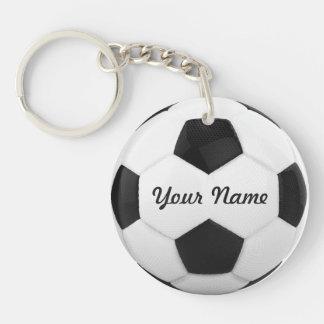 Deporte conocido personalizado del balón de fútbol llavero redondo acrílico a doble cara