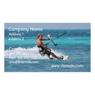 Deporte de Kiting Tarjetas Personales