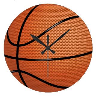 Deporte del baloncesto reloj redondo grande