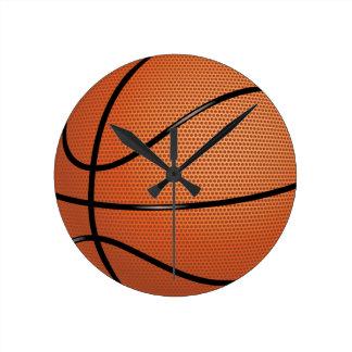 Deporte del baloncesto reloj redondo mediano