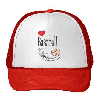 Deporte del béisbol del amor gorros