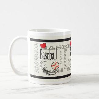 Deporte del béisbol del subterráneo del amor taza de café
