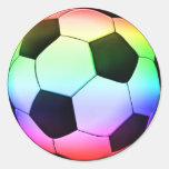 Deporte del fútbol del fútbol el | de Colorfull Etiquetas Redondas