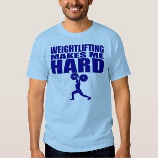 Deporte divertido - el levantamiento de pesas me playera