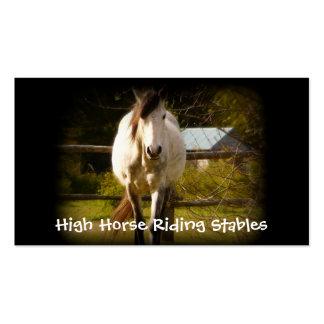 Deporte ecuestre de la equitación tarjeta de visita